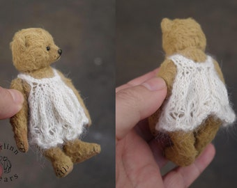 "Sprinkles, Miniature Viscose 3 3/4"" Artist Teddy Bear by Aerlinn Bears"