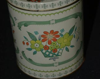 Vintage Daher Floral Tin The Box Company Made in England