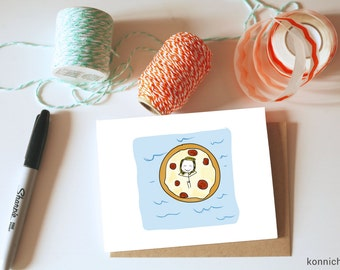 Pizza Valentine // Card for Pizza Lovers // Valentine for Pizza Lovers // Quirky Pizza Cards // Pizza Card // Summer Card