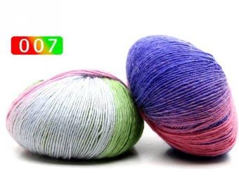 2 - Rainbow Wool Anti-pilling Yarn Skeins - #7