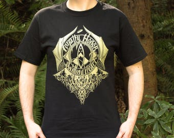 Final Print Run | Hobbit Shirt | Loyalty Honor a Willing Heart | Hand Screen Printed  | Black with gold ink | Available In Plus Sizes