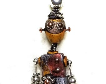 Bot Bling!  Miniature Robot Necklace.