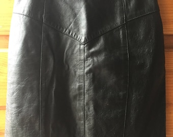 Vintage 90's Leather Pencil Skirt