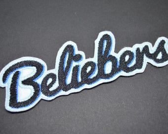 Beliebers Patch Iron On  Applique Embroidered Patches Machine Embroidery Design