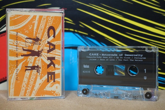 Motorcade Of Generosity by Cake Vintage Cassette Tape