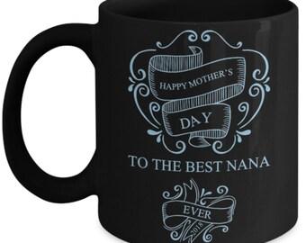 Happy Mother's Day Nana Limited Edition Keepsake 2018 Black and Blue Coffee Mug-