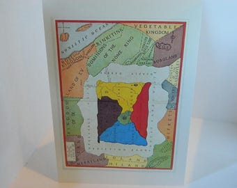 Blank Card  Greeting Card  Wizard of Oz  Map of the Lands of Oz
