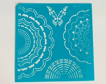 Mandala and Butterfly reusable stencil