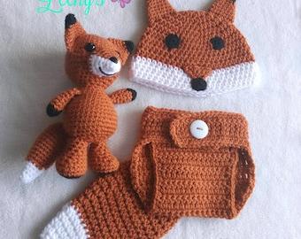 Woodland Fox Baby Set + Fox Amigurumi (optional)