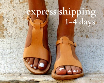 CASSANDRA sandals/ women Greek leather sandals/ roman sandals/ ancient Greek sandal/ womens leather sandals/ natural color leather sandals