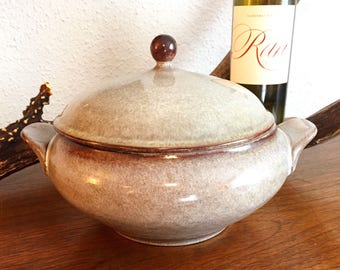 Vintage West Germany Ceramano Covered Casserole Pottery Dinnerware Dish