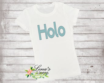 HOLO  ladies holographic vinyl tee