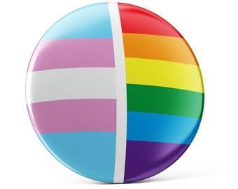 Trans, Transgender pin button, Transgender Flag button, Transgender pin, pin badge, cool bag decoration, Transgender Pride