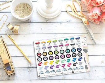 Car Maintenance Stickers || 56 Planner Stickers