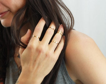 Minimal rings for women, Gifts For Women, Gift for Wife, Plain Band Ring, Stacking Ring, Dainty Ring, Gift for her, by The Silver Wren