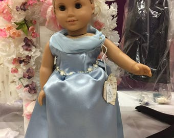 Blue Cinderella type outfit for American Girl doll