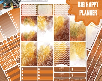 Fall Planner Stickers Printable, Big Happy Planner Stickers, Weekly Planner Kit, Planner Stickers, Big MAMBI Planner Stickers,Big HP Kit