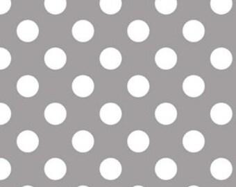Medium Gray Dots Cotton Fabric - c360 40 Gray Riley Blake Designs - Gray Polka Dot Fabric - Gray Fabric - Printed Fabric Quilting Cotton