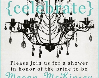 Bridal Shower Invitation -- Celebrate