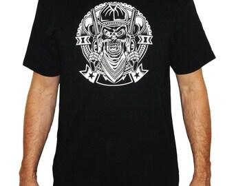 Black cowboy t-shirt screen printing