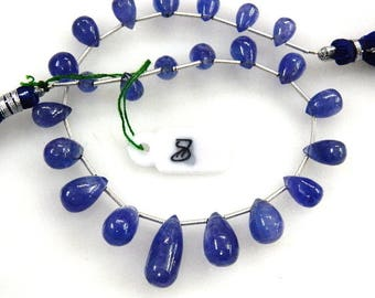 AAA Tanzanite Beads-Tanzanite-Tear-Drops-Beads-Super Top AAA High Quality Dark Blue Tanzanite Smooth Briolette Tear-Drops Size-5-8MM