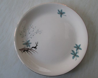 Alfred Meakin 10 inch dinner plate in the blue Stag deer design