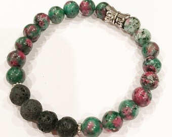Jade Splash stackable Essential Oil Diffuser Bracelet