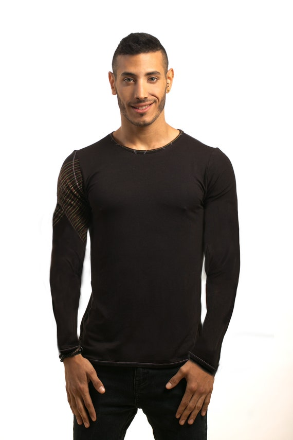 Top fashion long tshirt Mans Unique clothing wear Evening Mens Handmade Mans Shirt shirt Mens clothing Design shirt mens Black shirt 1vxvSU