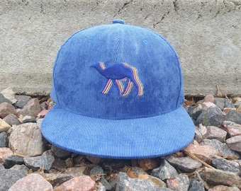 Camelwalk Snapback Hat / Sapphire Corduroy with Blue Camel