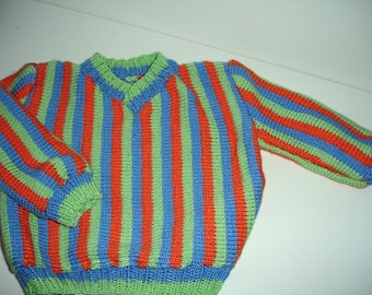 Custom knitted Bert sweater for Children For Sizes 4 T / 5 T