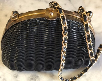 """Simple Elegance Rockabilly Summer Purse Got it at The Plastic Flamingo Vintage Fun! BADASS Bag """"Don't lose a diamond while chasing glitter"""""""