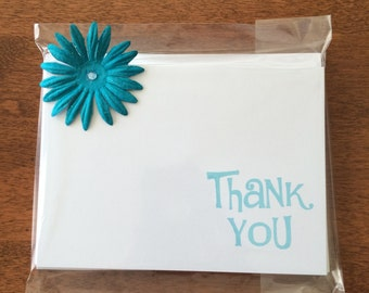 Stamped Set of 8 Thank You Note Cards