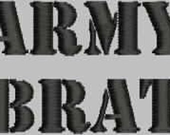 Military Brat Embroidery Design Collection