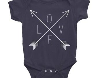 LOVE Arrow Valentines Day Onesie // Baby Shower Gift // Cute Baby Onesie // Baby Outfit // Outfit for New Baby // Gift for Baby Shower