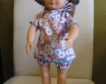 Three Piece Retro Playsuit 18 in dolls clothes, 18 in dolls, girl doll clothes