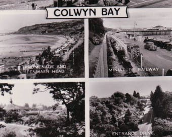 Colwyn Bay, Wales Multi Veiw Postcard. ~ Real Photograph ~ Valentine's Series ~ UnPosted.