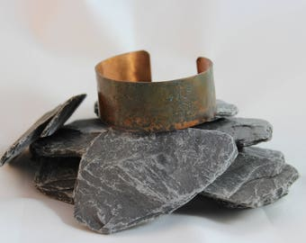 Copper Etched Bracelet with Patina (082017-013)