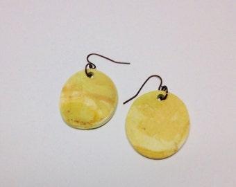 Fresco Oval Drop Earrings