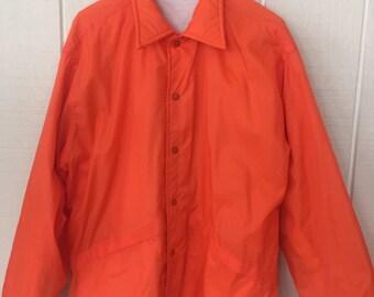 Bright Orange Track Jacket Pla-Jac Brand/ Hipster Coat