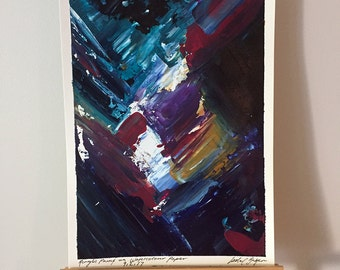 Remnant VI - Original Abstract Acrylic Painting on A4 Watercolour Paper