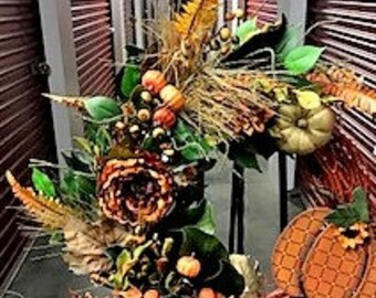 Grapevine Fall Floral Wreath - SALE