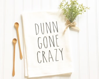 Rae Dunn inspired gift for mom mothers day Dunn Gone Crazy flour sack towel gift for her coffee lover kitchen decor women's gift