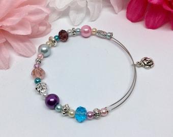 Spring Bracelet, Memory wire Bracelet, Unique Bracelet, Gift for her