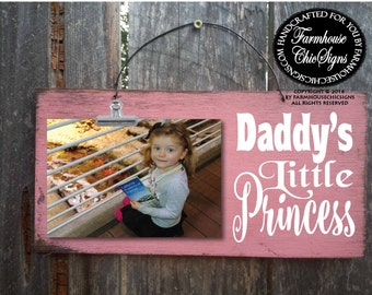 dad gift, gift for dad, father's day gift, daddy's little princess, dad picture frame, father daughter gift, father daughter picture, 231