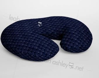 Minky Boppy® Cover, Nursing Pillow Cover - Navy Minky Dot OR Choose from 42 Solid Colors  - BC0
