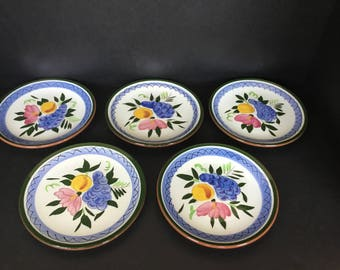 Stangl Fruit and Flower Bread and Butter Plates - Set or 4