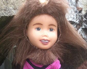 The Trick or Treat Cheerleader Werewolf Doll, makeunder rescue + ooak