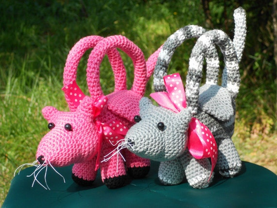 Patrones de crochet bolsitos de peluche para niños