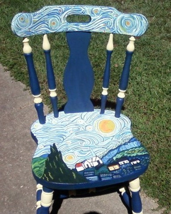 & Items similar to Starry Night chair on Etsy