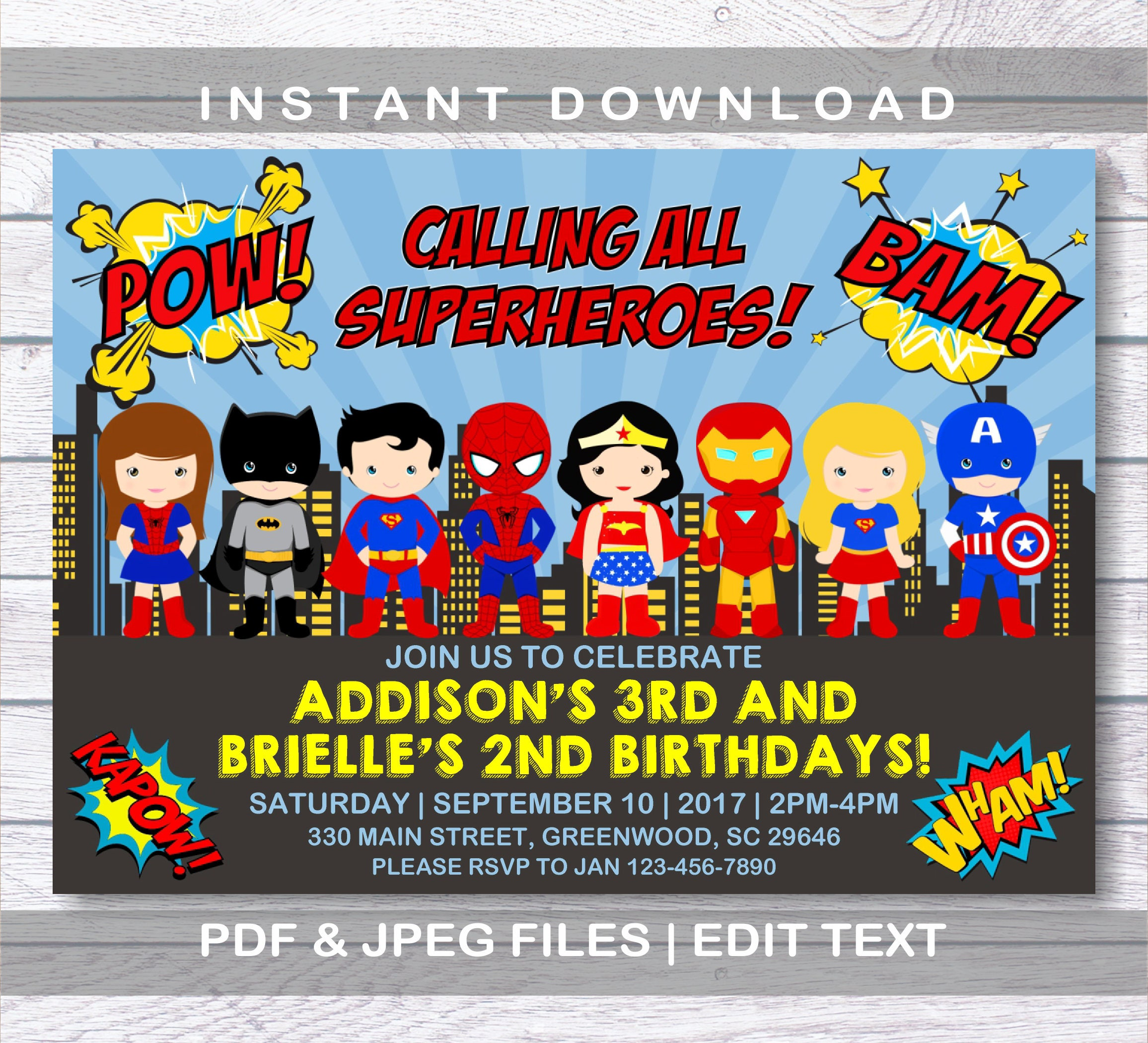 Modern 2nd Birthday Invitations Boy Pictures - Invitations and ...